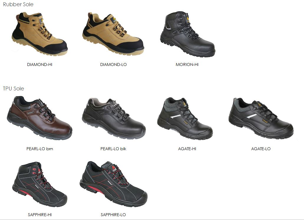 various types of safety shoes
