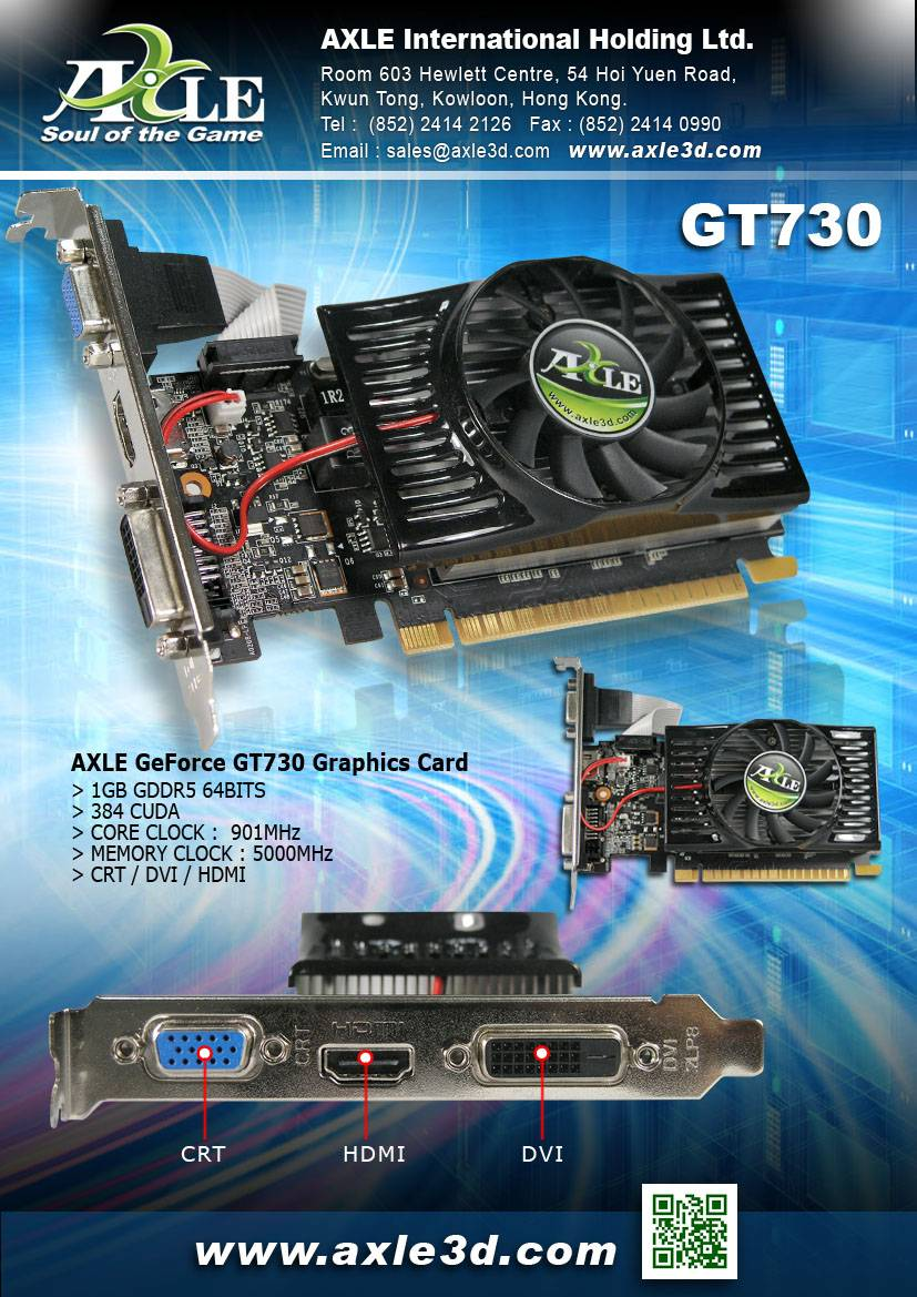AX-GT730/1GD5P4CDIL Graphics card/