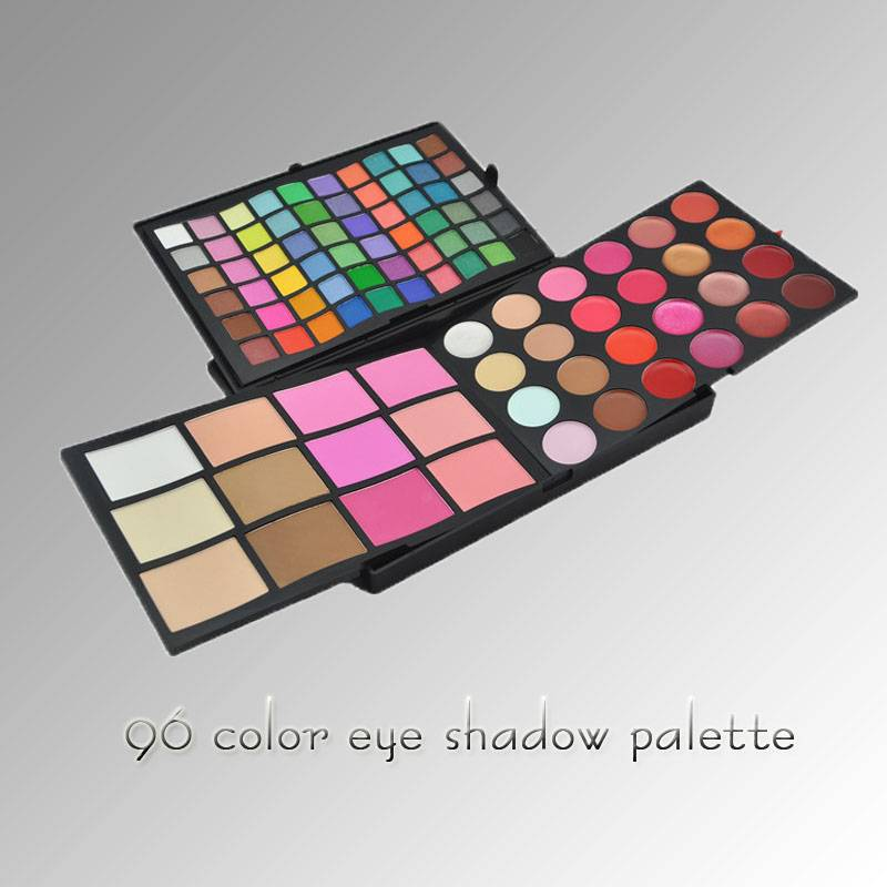 96 color Combo makeup palette with Eyeshadow Concealer Blush and Lipgloss