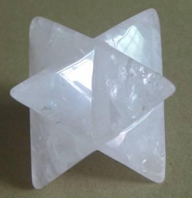 Natural clear quartz merkaba star