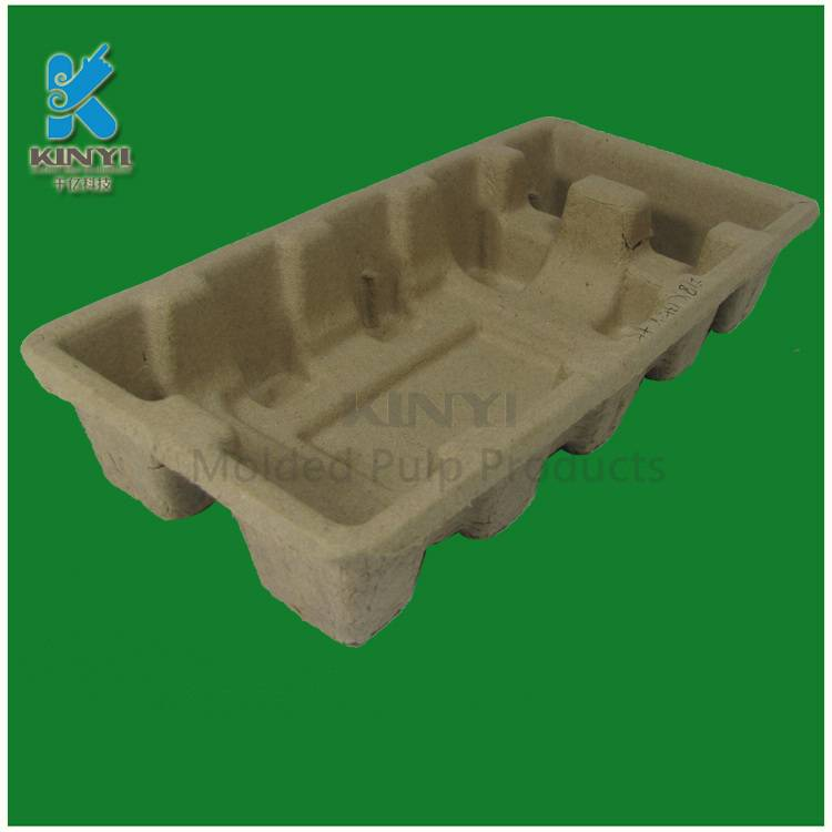 Electronic protective packaging, environmental paper pulp tray