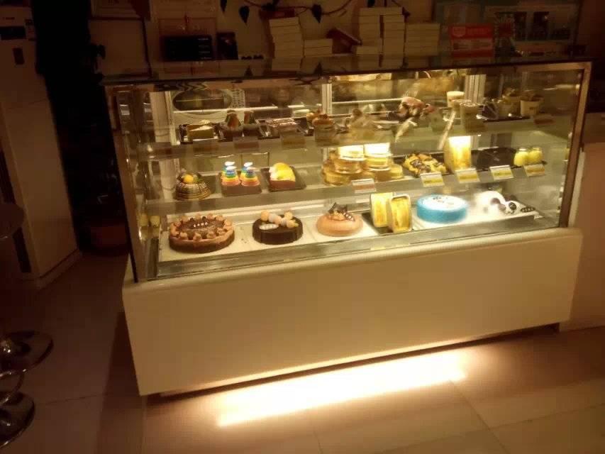 Japanese Style 3 layers Cake showcase; Rectangular cake cabinet 3 layer cake showcase/cake fridge