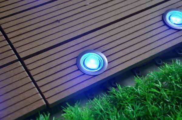30mm led stair light blue