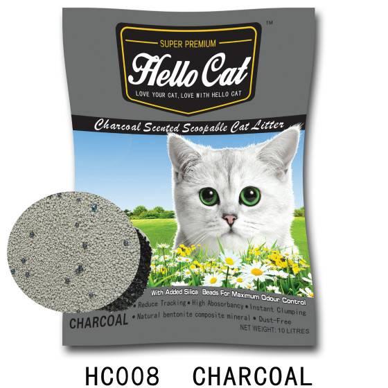 HC008   charcoal cat litter
