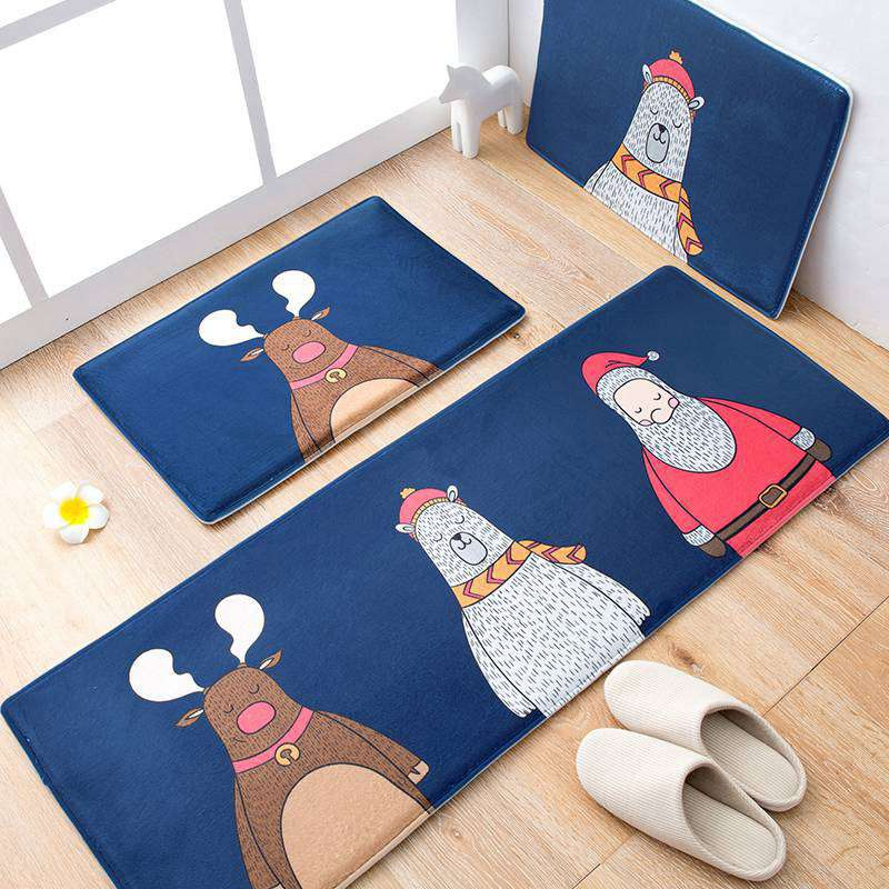 Cartoon Carpet Home Decor Floor Carpets Rugs for Bedroom Bathroom Kitchen Entrance Mats 2 Sizes