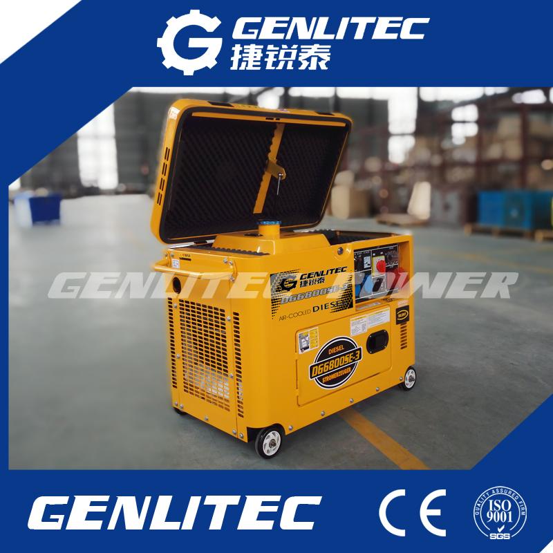 Air-Cooled Portable Diesel Generator 5kVA Silent Diesel Generator (DG6800SE)