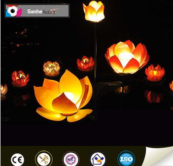 Lotus flower shape festival use outdoor Chinese silk lantern