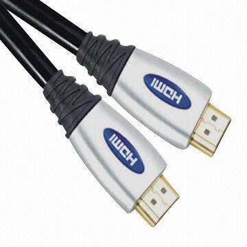 HDMI Cables with Gold-plated Connector and Copper Conductor, Suitable for A/V Receivers