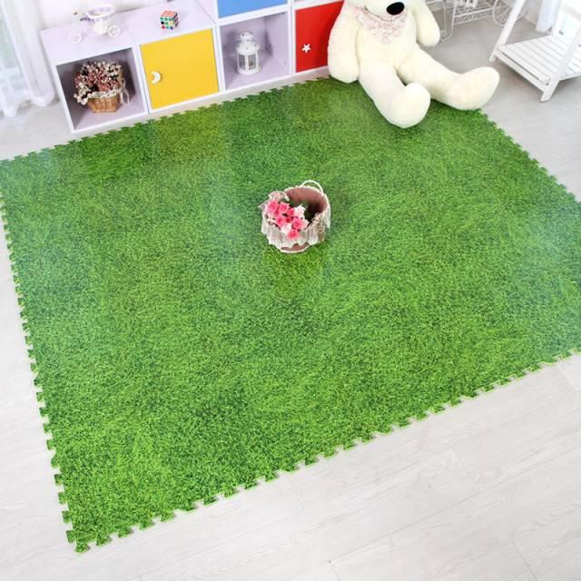 Puzzle Mats for Children Best Cheap Waterproof Green Grass Anti-Fatigue Jigsaw Puzzles Foam Interloc