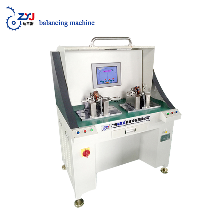 double console rotor auto positioning testing machine drive shaft balancing machine