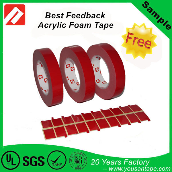 waterproof 3M VHB Tape with high sticky for Car,Steel, Glass ,auto, metal