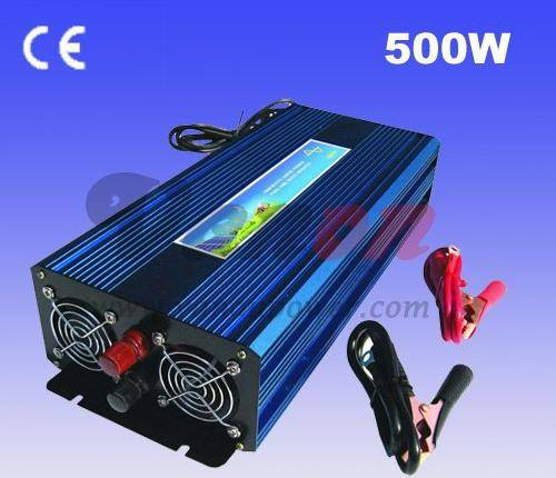 12V to 220V 500W Pure Sine Wave Power Inverter With 12V10A Buildin Charger with Automatic Transfer F