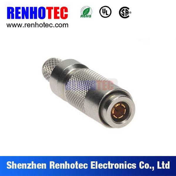 Straight 1.0/2.3 plug connector