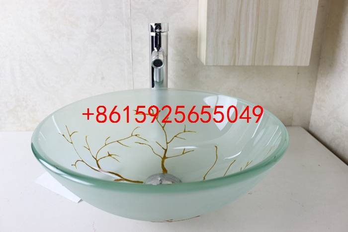 bathroom basin,glass sink,wash basin vessel sink wash sink bathroom cabinet sink n-743