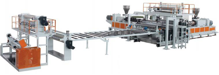 PVC Floor Leather Extrusion Line