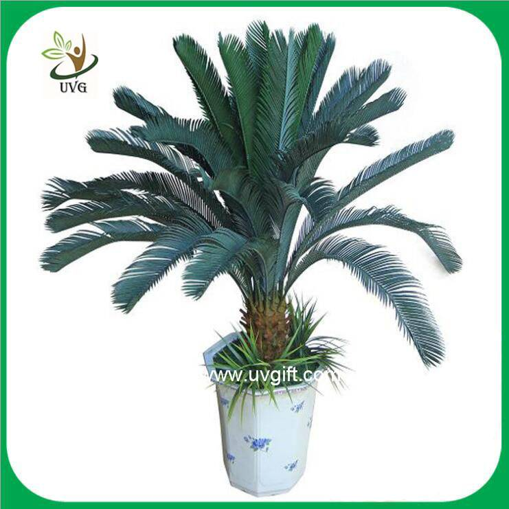 UVG PLT07 bonsai fake plants with plastic cycas revoluta tree for office decoration