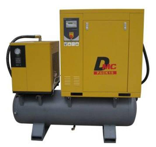20hp screw compressor with dryer and tank