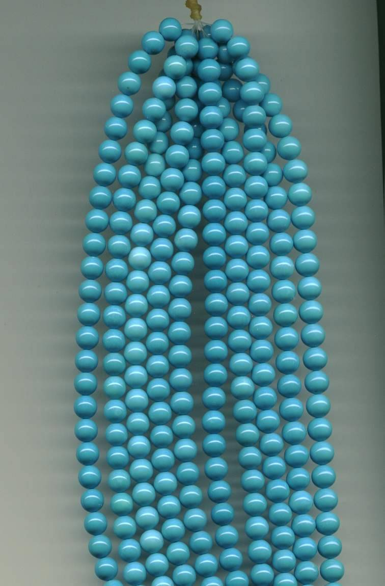 Natural turquoise beads, round 4-12mm