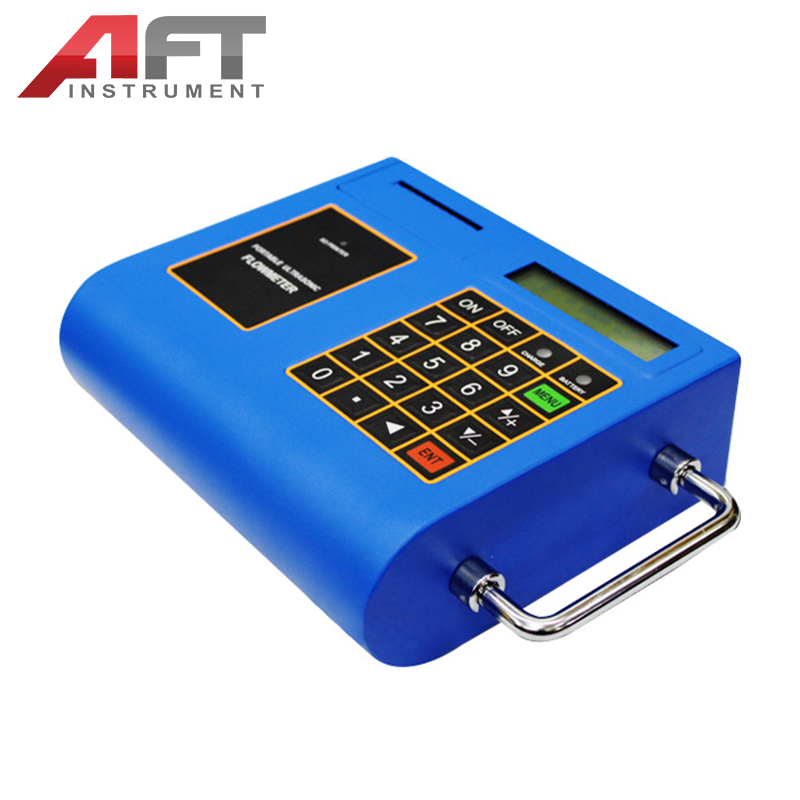 portable ultrasonic flowmeter with print function
