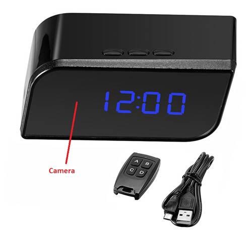 motion detection night vision hd camera clock hidden camera