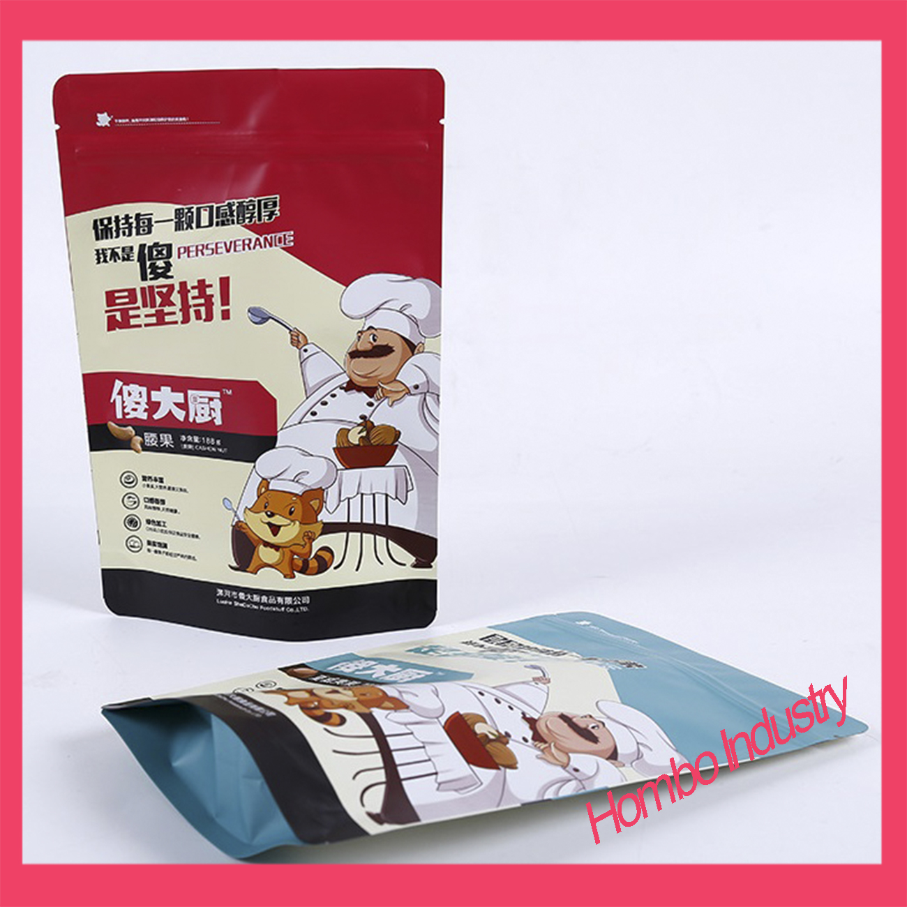 Customized Aluminum Foil Food Packaging Bags with Zipper