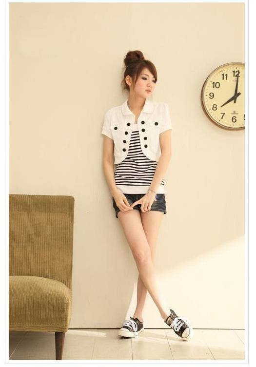 Fashion Short Sleeve Mini Cardigan