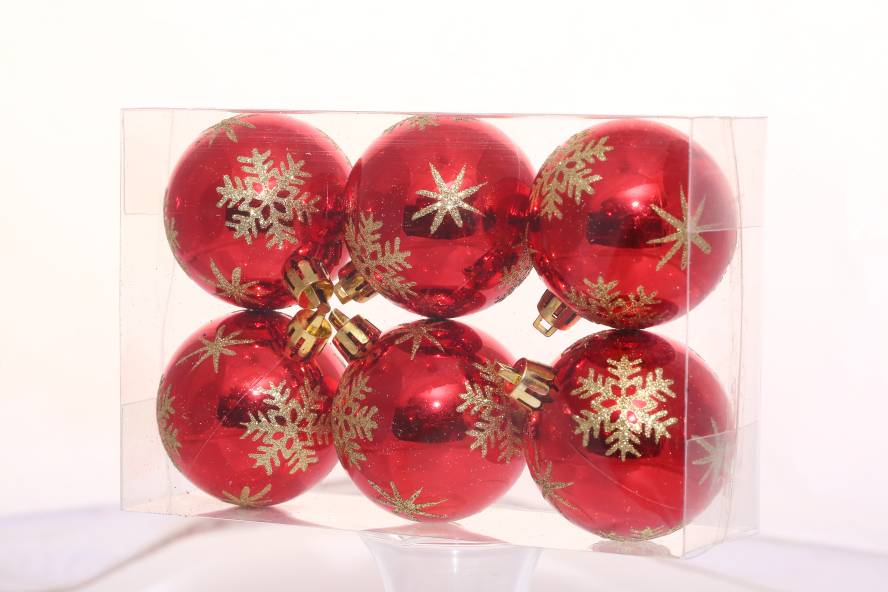 Decorative Gifts Shiny Painted Plastic Christmas Ball