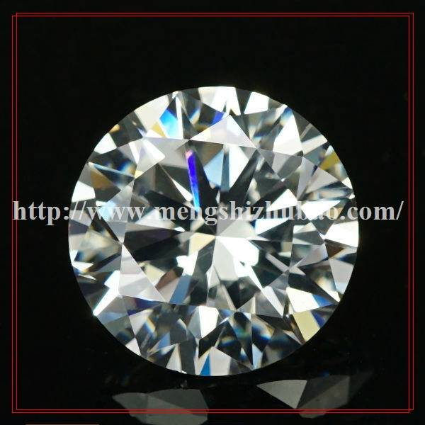 shining white clear cubic zirconia cz loose gems