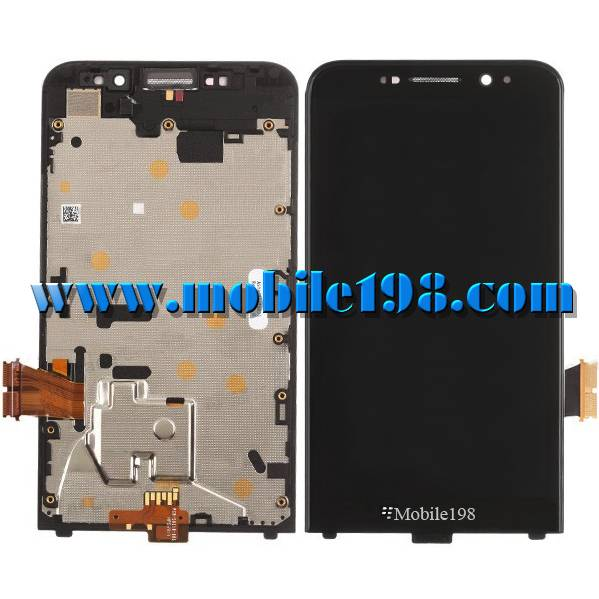 LCD Screen display with Frame for Blackberry Z30
