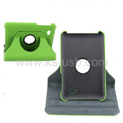 360 Degree Rotatable Leather Case with Holder for Samsung P6200 (KTPC-0615)
