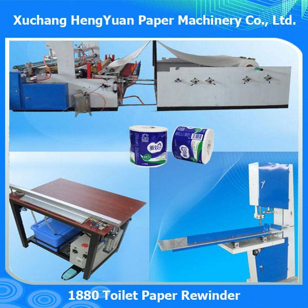 Full Automatic Toilet Paper Cutting and Rewinding Machine