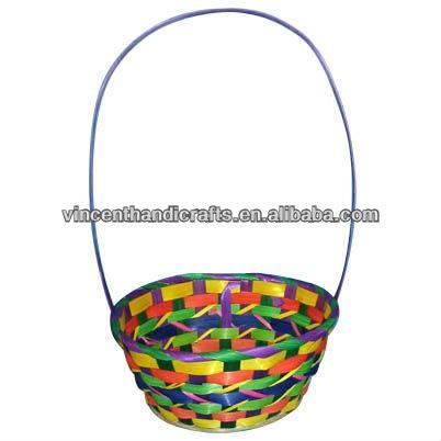 Cheap round bamboo flower basket
