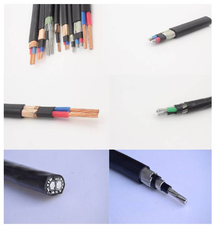 LV 8000 series conductor xlpe insulated concentric cable