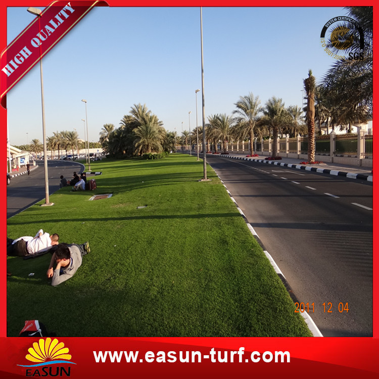 Popular use green synthetic artificial grass turf carpet outdoor -Donut
