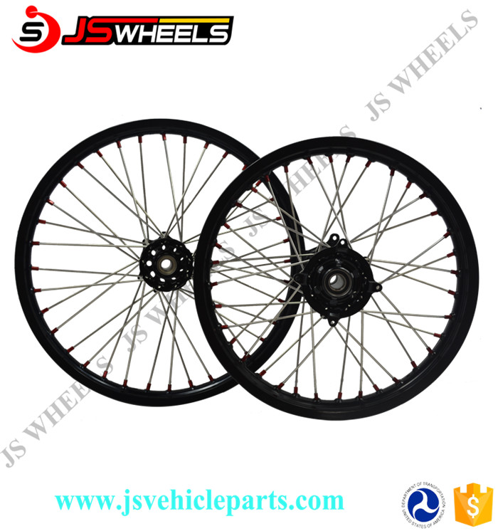 "17x3.5"" 17x4.25"" Complete Alloy CNC Motorcycle Wheels for KTM SXF250/300/500 Supermoto"