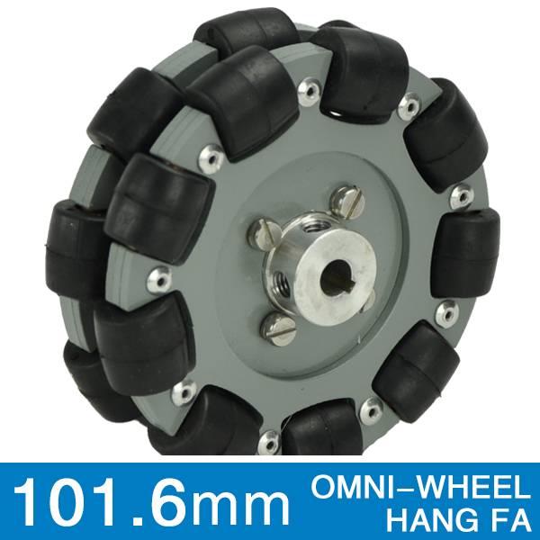 101.6mm double aluminum hub robotics omni wheel