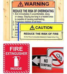 PVC,Iron plate and Steel plate Safety Signs & Labels