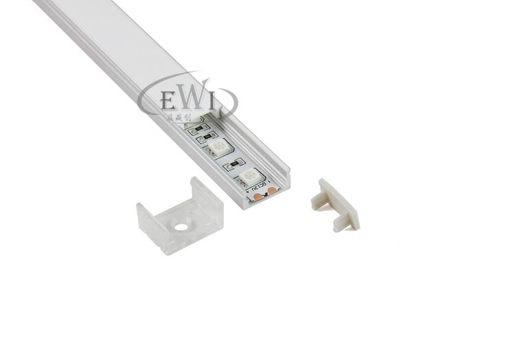 Anodizing recessed LED aluminum profile