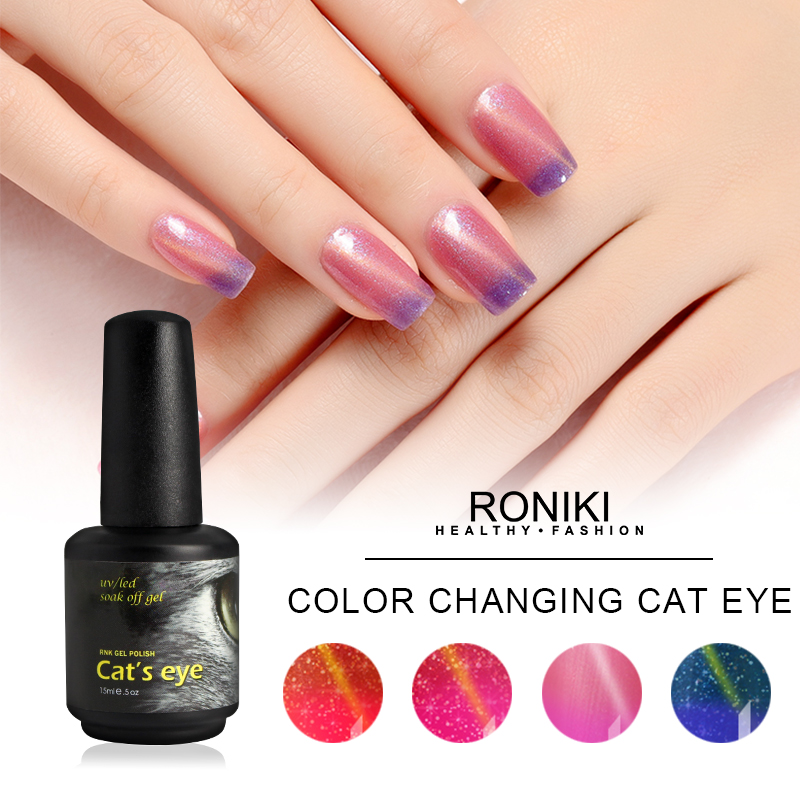 RONIKI Color Changing Cat Eye Gel,Colorful Cat Eye Gel,Variety Cat Eye Gel,Cat Eye Gel