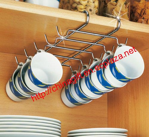 Chrome Cupboard Fitting Cup Holder