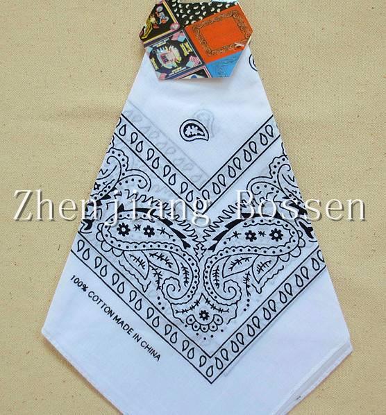 Promotional customized cotton paisley big handkerchief