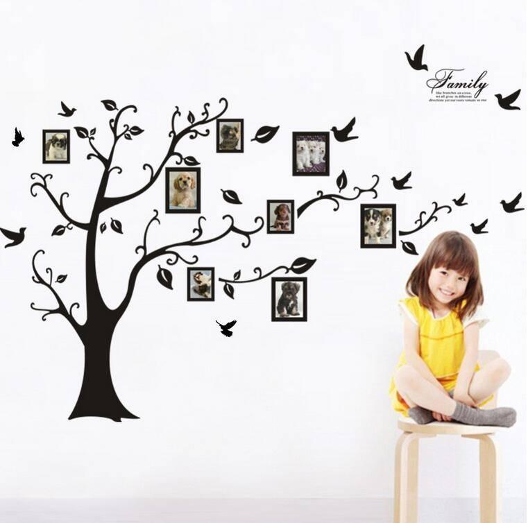 New 3D Sticker on The Wall Black Art Photo Frame Memory Tree Wall Stickers Home Decor Family Tree Wa
