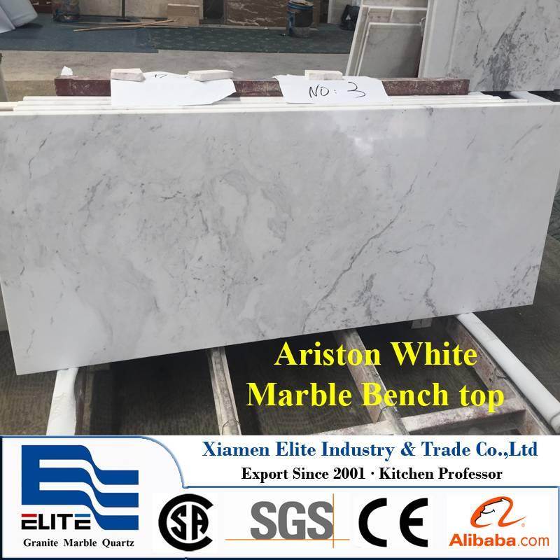 Ariston White Marble Benchtop Table top