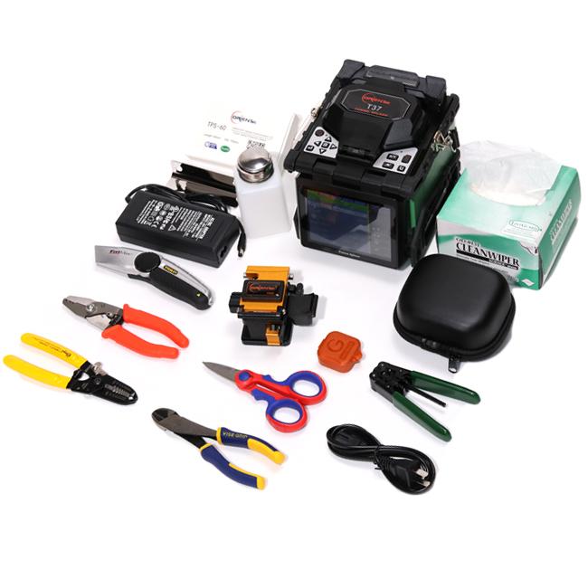 Core Alignment Fusion Splicer Kit with Fiber Cleaver ORIENTEK T37 fiber splicing machine