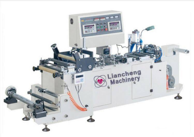 LC-250G high speed guling center-seal machine gluing or seaming single layer PVC/PET