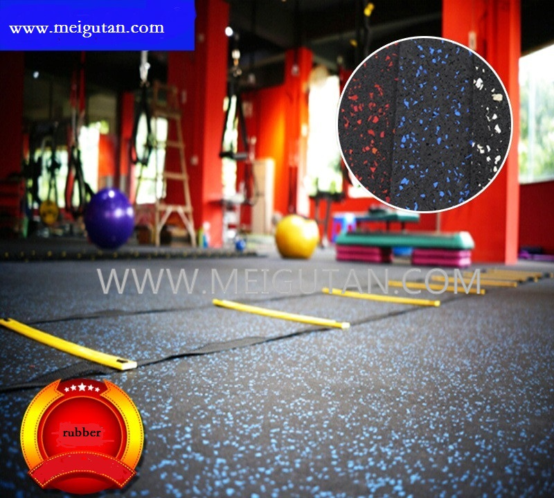 gym rubber flooring with 10% colour EPDM