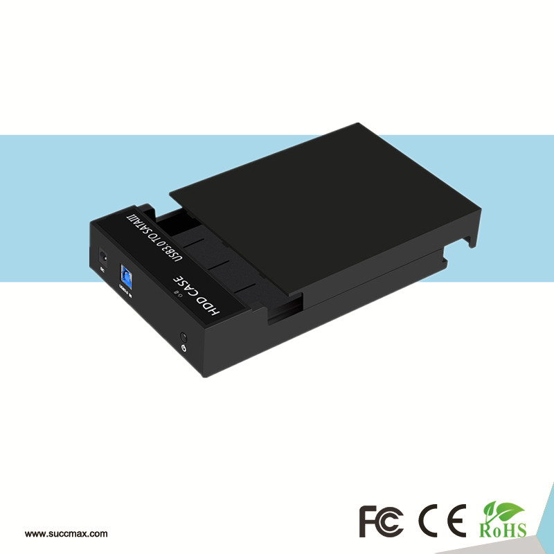 3.5 Inch USB 2.0 SATA Screwless HDD Enclosure Support 8TB