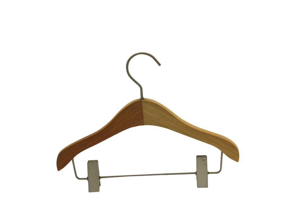 India Delhi wooden hanger with clip trouser hangers