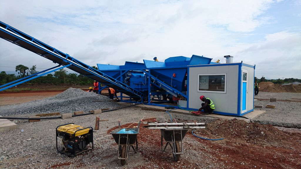 K-60 (60m3/h) Concrete Batching Plant - MOBILE - EASY TO TRANSPORT