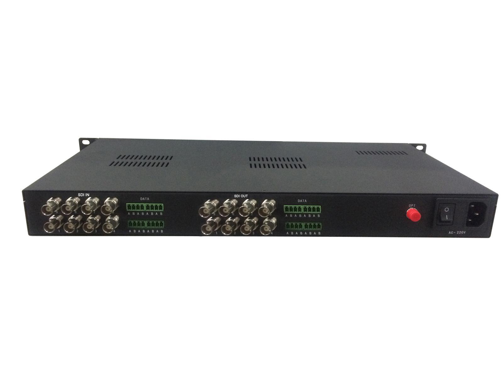 16-ch SDI ASI optical transceiver